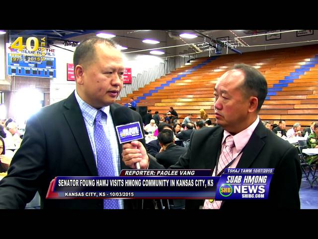 SUAB HMONG NEWS:  Senator Foung Hawj in Kansas City, Kansas - 09/26/2015